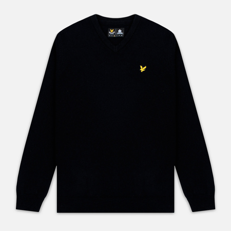 Мужской свитер Lyle & Scott V Neck Lambswool True Black