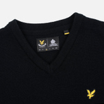 Мужской свитер Lyle & Scott V Neck Lambswool True Black фото- 1