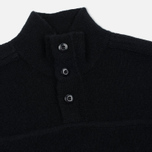 Мужской свитер MA.Strum Soft Shetland Button Placket Jet Black фото- 1