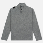 Мужской свитер MA.Strum Soft Shetland Button Placket Medium Grey Melange фото- 0