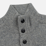 Мужской свитер MA.Strum Soft Shetland Button Placket Medium Grey Melange фото- 1