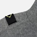 Мужской свитер MA.Strum Soft Shetland Button Placket Medium Grey Melange фото- 2