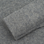 Мужской свитер MA.Strum Soft Shetland Button Placket Medium Grey Melange фото- 3