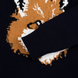 Мужской свитер Maison Kitsune Fox Head Navy фото- 3