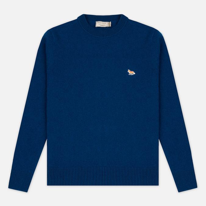 Мужской свитер Maison Kitsune Lambswool R Neck Blue