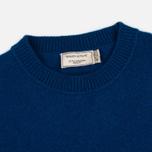 Мужской свитер Maison Kitsune Lambswool R Neck Blue фото- 1