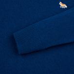 Мужской свитер Maison Kitsune Lambswool R Neck Blue фото- 3