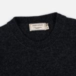 Мужской свитер Maison Kitsune Lambswool R Neck Dark Grey Melange фото- 1