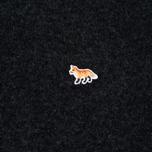 Мужской свитер Maison Kitsune Lambswool R Neck Dark Grey Melange фото- 2