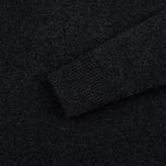 Мужской свитер Maison Kitsune Lambswool R Neck Dark Grey Melange фото- 3