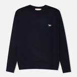 Мужской свитер Maison Kitsune Round Neck Navy фото- 0