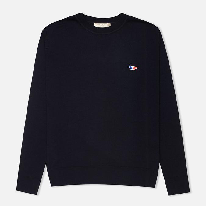 Мужской свитер Maison Kitsune Round Neck Navy