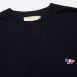Мужской свитер Maison Kitsune Round Neck Navy фото- 1