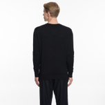 Мужской свитер Maison Kitsune Virgin Wool R-Neck Pullover Black фото- 5