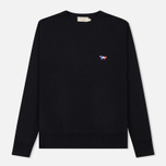 Мужской свитер Maison Kitsune Virgin Wool R-Neck Pullover Black фото- 0