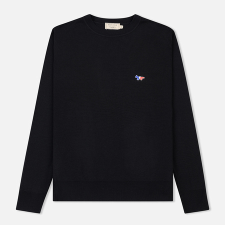 Мужской свитер Maison Kitsune Virgin Wool R-Neck Pullover Black