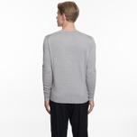 Мужской свитер Maison Kitsune Virgin Wool R-Neck Pullover Grey Melange фото- 5