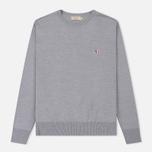 Мужской свитер Maison Kitsune Virgin Wool R-Neck Pullover Grey Melange фото- 0