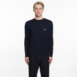 Мужской свитер Maison Kitsune Virgin Wool R-Neck Pullover Navy фото- 4
