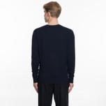 Мужской свитер Maison Kitsune Virgin Wool R-Neck Pullover Navy фото- 5