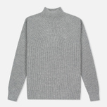 Мужской свитер Nanamica High Neck Heather Grey фото- 0