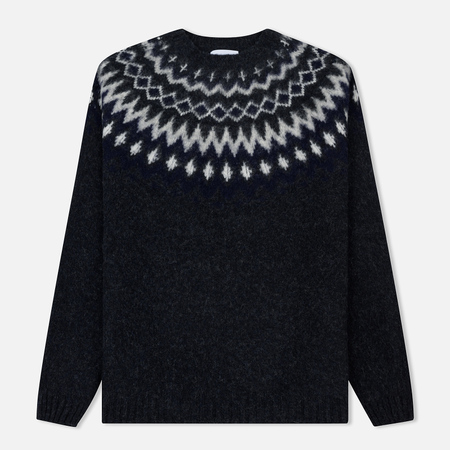 Мужской свитер Norse Projects Birnir Fairisle Charcoal Melange