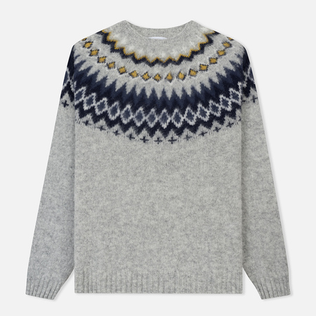 Мужской свитер Norse Projects Birnir Fairisle Light Grey Melange
