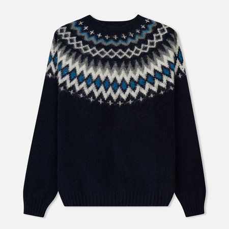 Мужской свитер Norse Projects Birnir Fairisle Navy