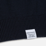 Мужской свитер Norse Projects Marius Merino Navy фото- 3