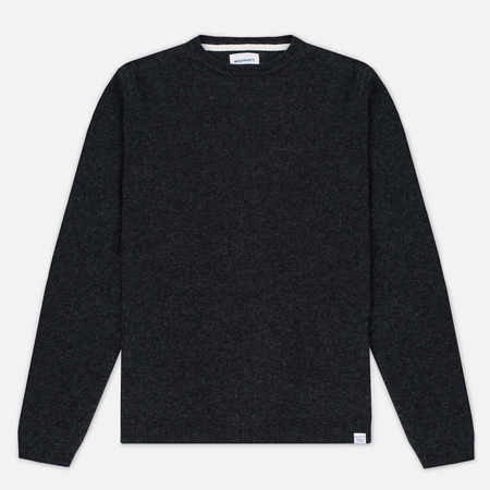 Norse Projects Sigfred Lambswool Men's Sweater Charcoal Melange