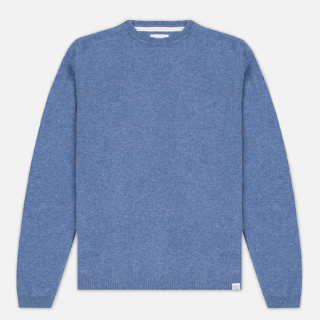 Norse Projects Sigfred Lambswool Men's Sweater Colony Blue