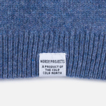 Мужской свитер Norse Projects Sigfred Lambswool Colony Blue фото- 3