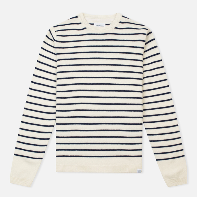 Norse Projects Sigfred Lambswool Men's Sweater Ecru