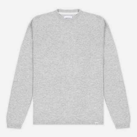Norse Projects Sigfred Lambswool Men's Sweater Light Grey Melange