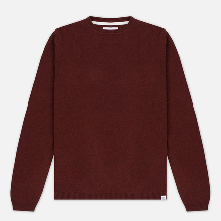 Norse Projects Sigfred Lambswool Men's Sweater Red Clay