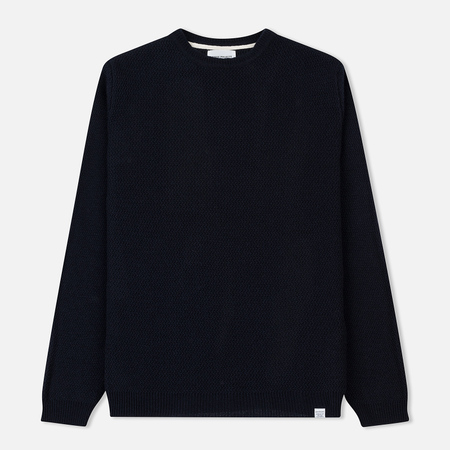 Мужской свитер Norse Projects Sigfred Lamsbwool Racked Navy