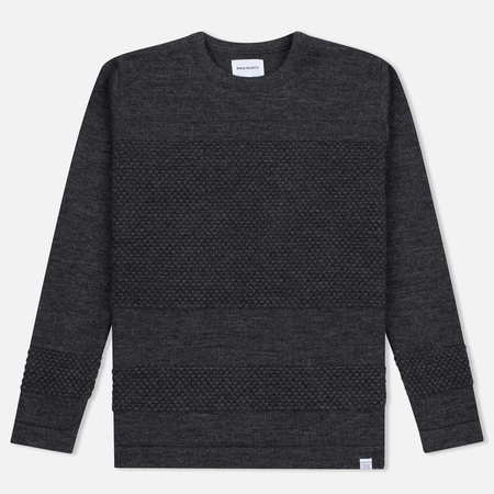 Мужской свитер Norse Projects Skagen Wool Charcoal