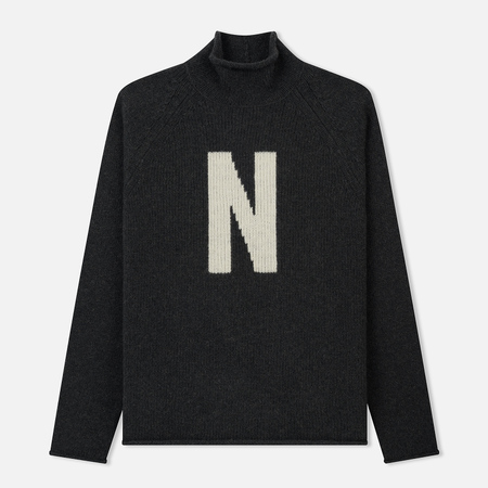 Мужской свитер Norse Projects Thore N Intarsia Charcoal Melange