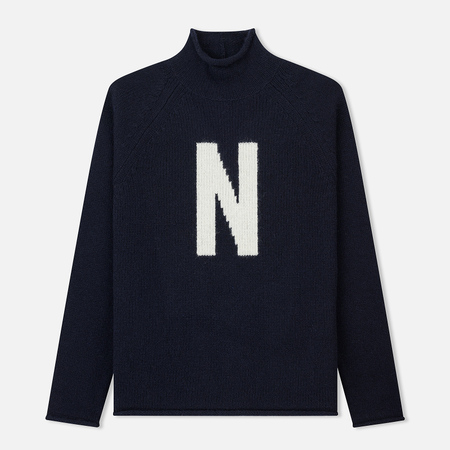 Мужской свитер Norse Projects Thore N Intarsia Dark Navy