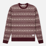 Мужской свитер Penfield Duntara Fairisle Crew Red фото- 0