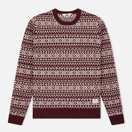 Penfield Duntara Fairisle Crew Men's Sweater Red