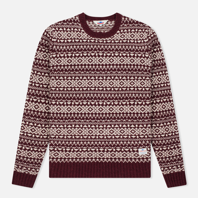 Penfield Duntara Fairisle Crew Men's Sweater Red