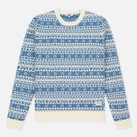 Мужской свитер Penfield Duntara Fairisle Crew White фото- 0