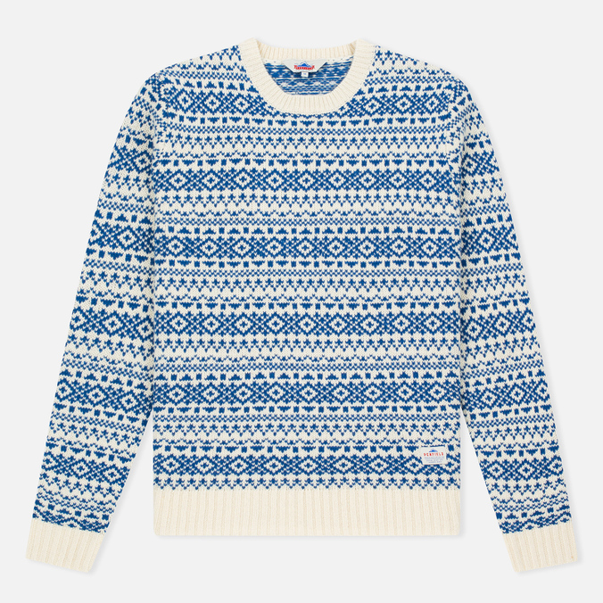 Penfield Duntara Fairisle Crew Men's Sweater White