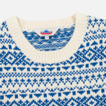 Penfield Duntara Fairisle Crew Men's Sweater White photo- 1