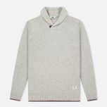 Penfield Harlington Two Tone Melange Men's Sweater Shawl Grey photo- 0