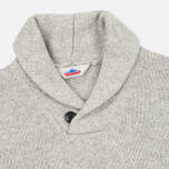 Мужской свитер Penfield Harlington Two Tone Melange Shawl Grey фото- 1
