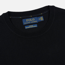Мужской свитер Polo Ralph Lauren Classic Crew Neck Merino Wool Black фото- 1