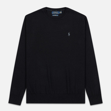 Мужской свитер Polo Ralph Lauren Classic Crew Neck Merino Wool Black фото- 0