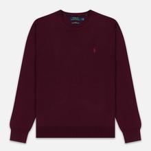 Мужской свитер Polo Ralph Lauren Classic Crew Neck Merino Wool Classic Burgundy фото- 0